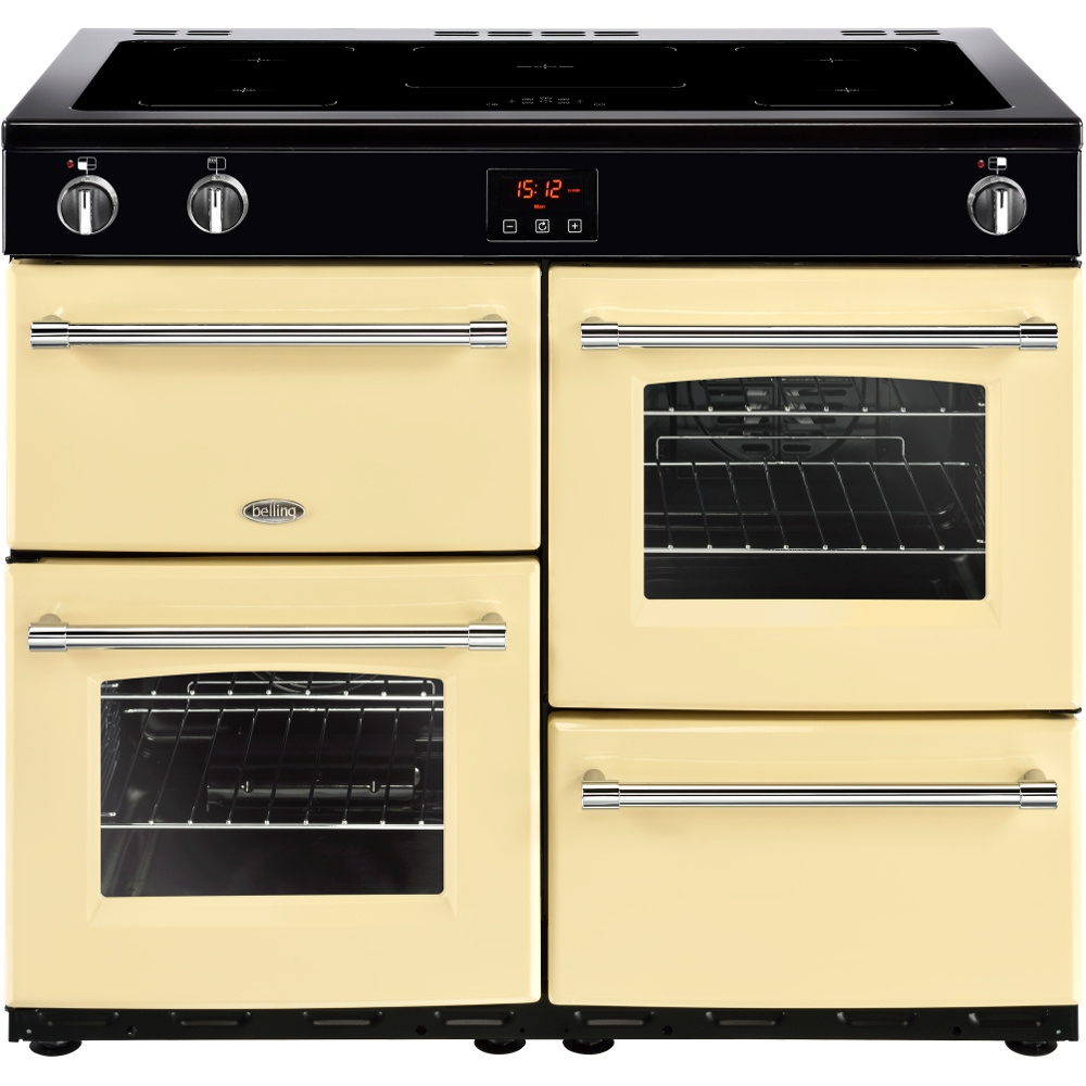 Belling Farmhouse 100Ei Cream 100cm Electric Induction Range Cooker