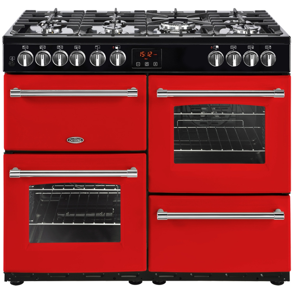 buy belling farmhouse 100dft cb 100cm dual fuel range cooker rh markselectrical co uk
