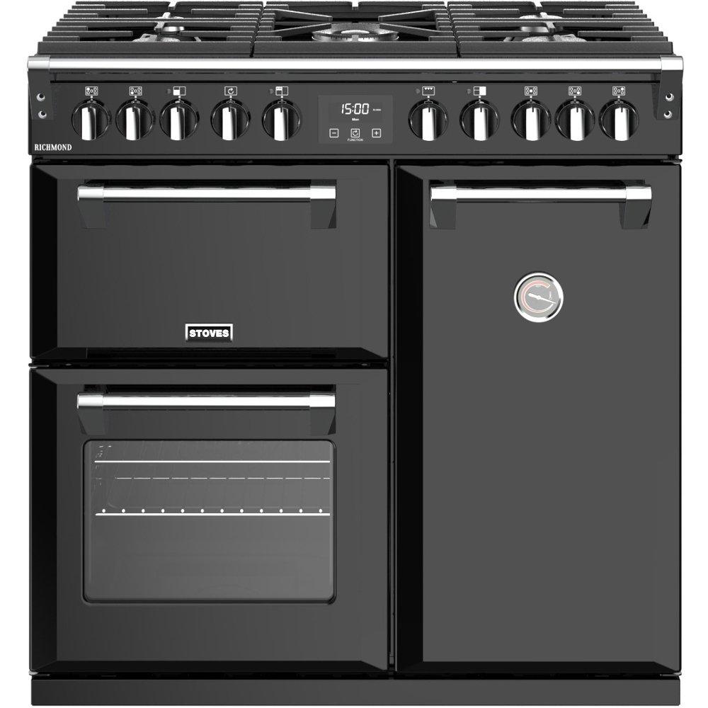 Stoves Richmond S900DF Black 90cm Dual Fuel Range Cooker