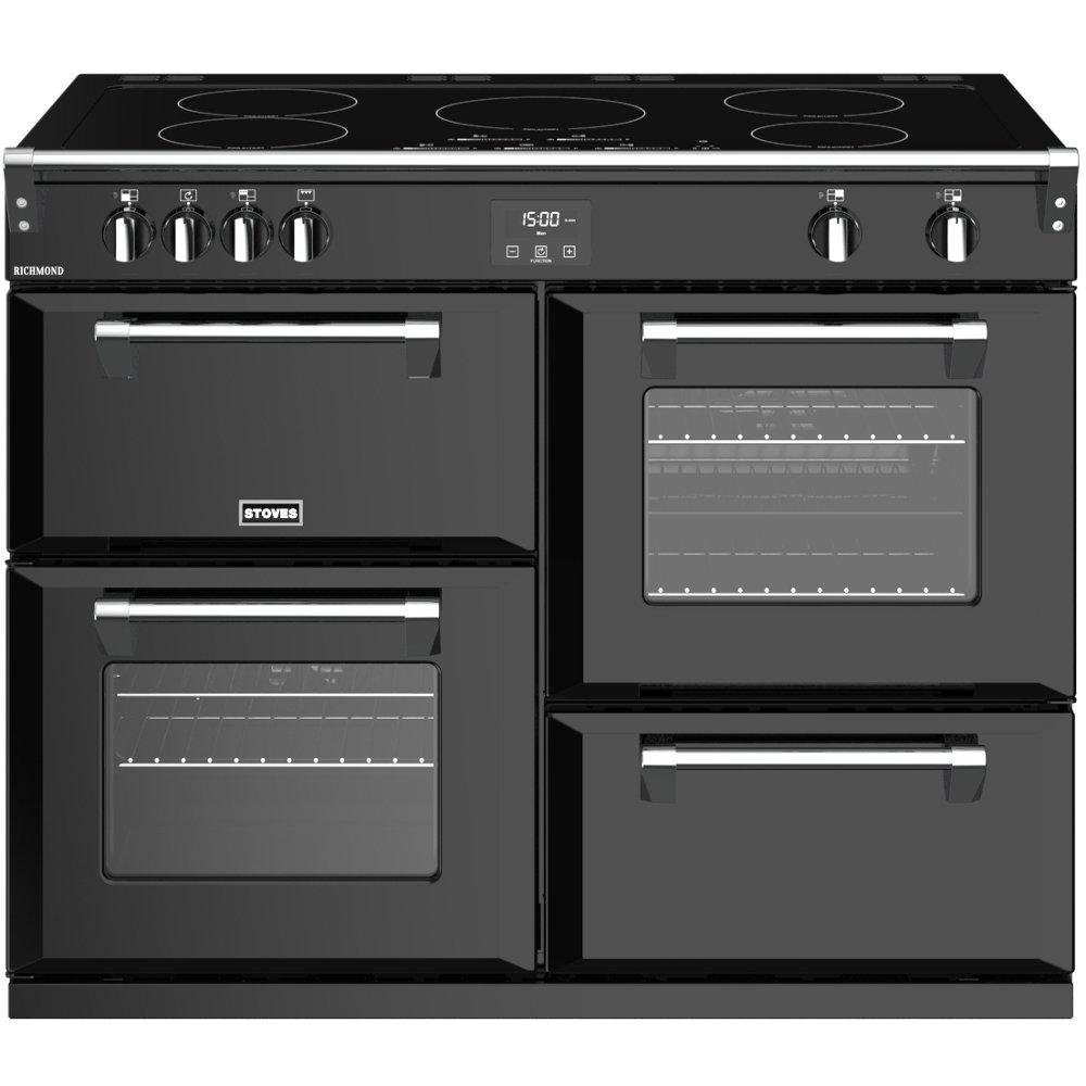 Stoves Richmond S1100Ei Black 110cm Electric Induction Range Cooker