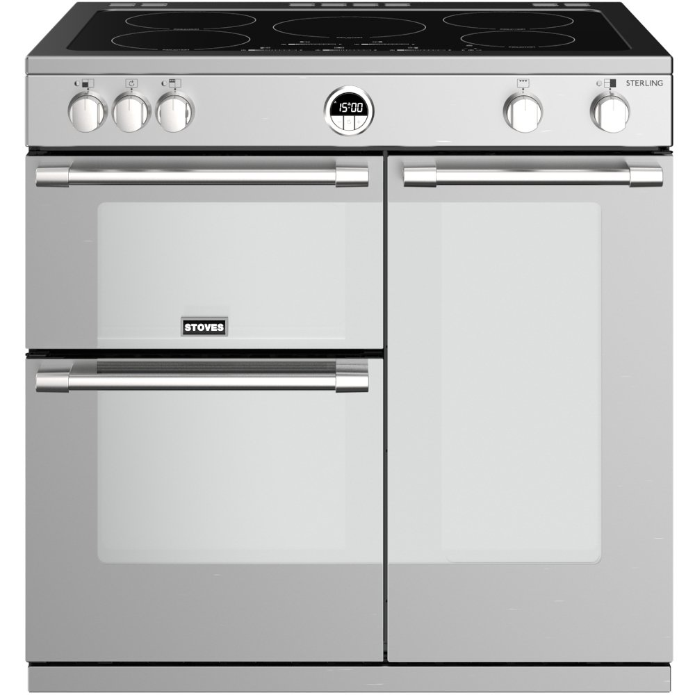 Stoves Sterling S900Ei Stainless Steel 90cm Electric Induction Range Cooker