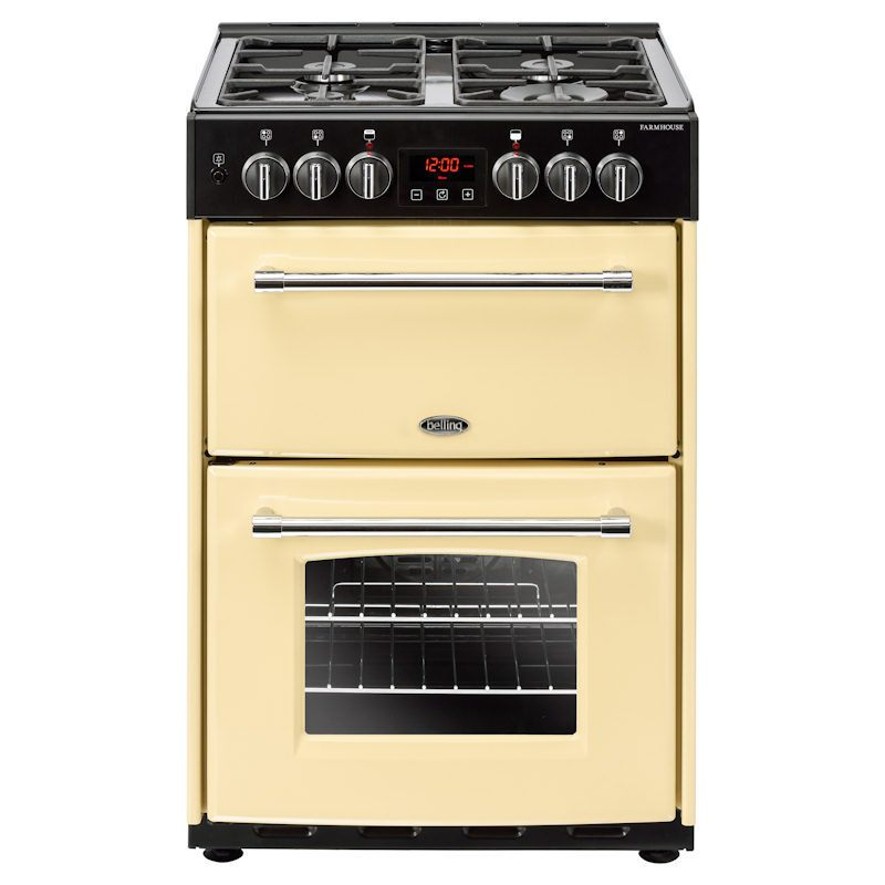 Belling Farmhouse 60DF Cream Dual Fuel Cooker with Double Oven