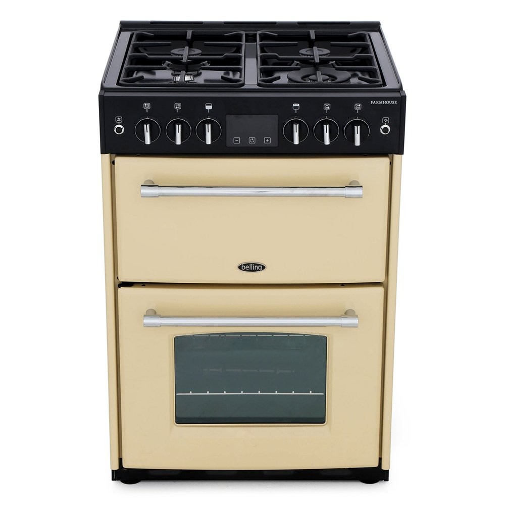 Belling Farmhouse 60G Cream Gas Cooker with Double Oven