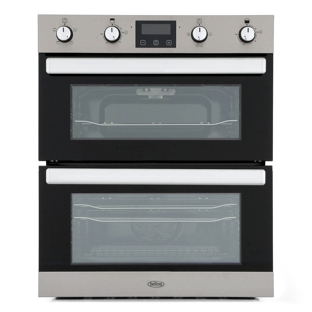 Belling BI702FP Stainless Steel Double Built Under Electric Oven