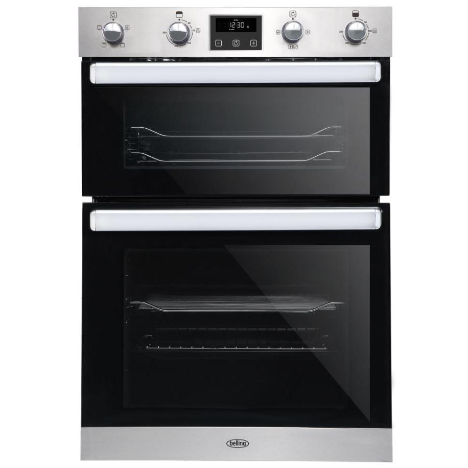 Belling BI902FP Stainless Steel Double Built In Electric Oven