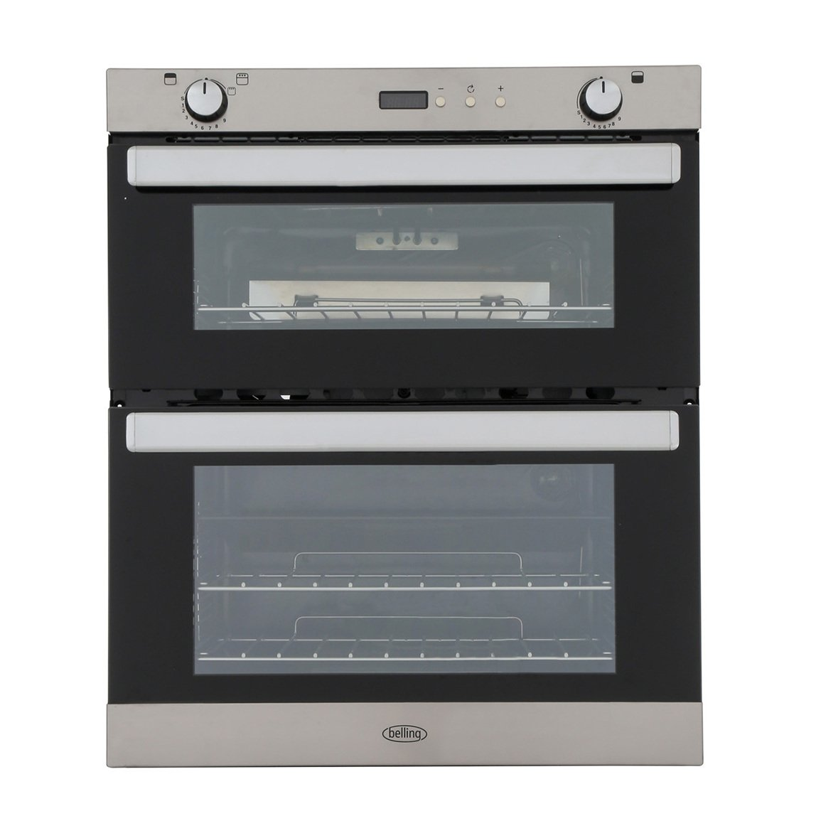 Belling BI702G Stainless Steel Double Built Under Gas Oven