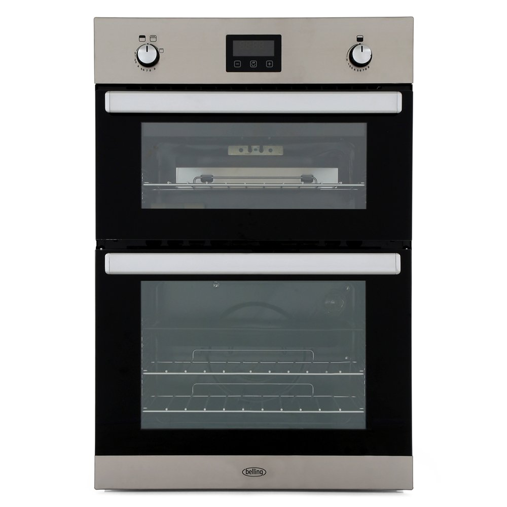 Belling BI902G Stainless Steel Double Built In Gas Oven