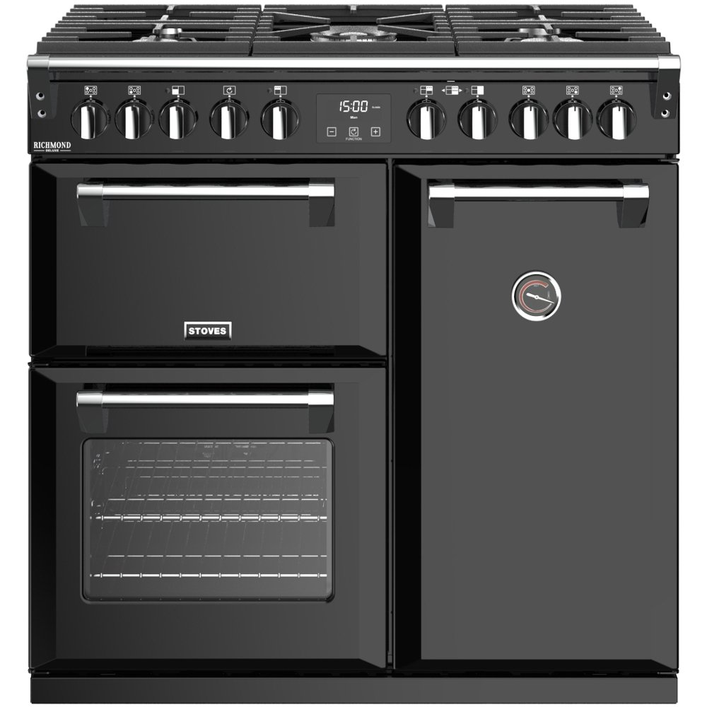 Stoves Richmond Deluxe S900DF Black 90cm Dual Fuel Range Cooker