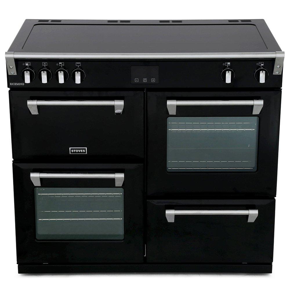 Stoves Richmond Deluxe S1000Ei Black 100cm Electric Induction Range Cooker
