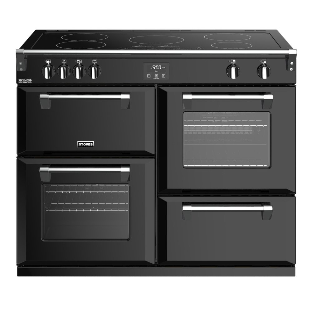 Stoves Richmond Deluxe S1100Ei Black 110cm Electric Induction Range Cooker