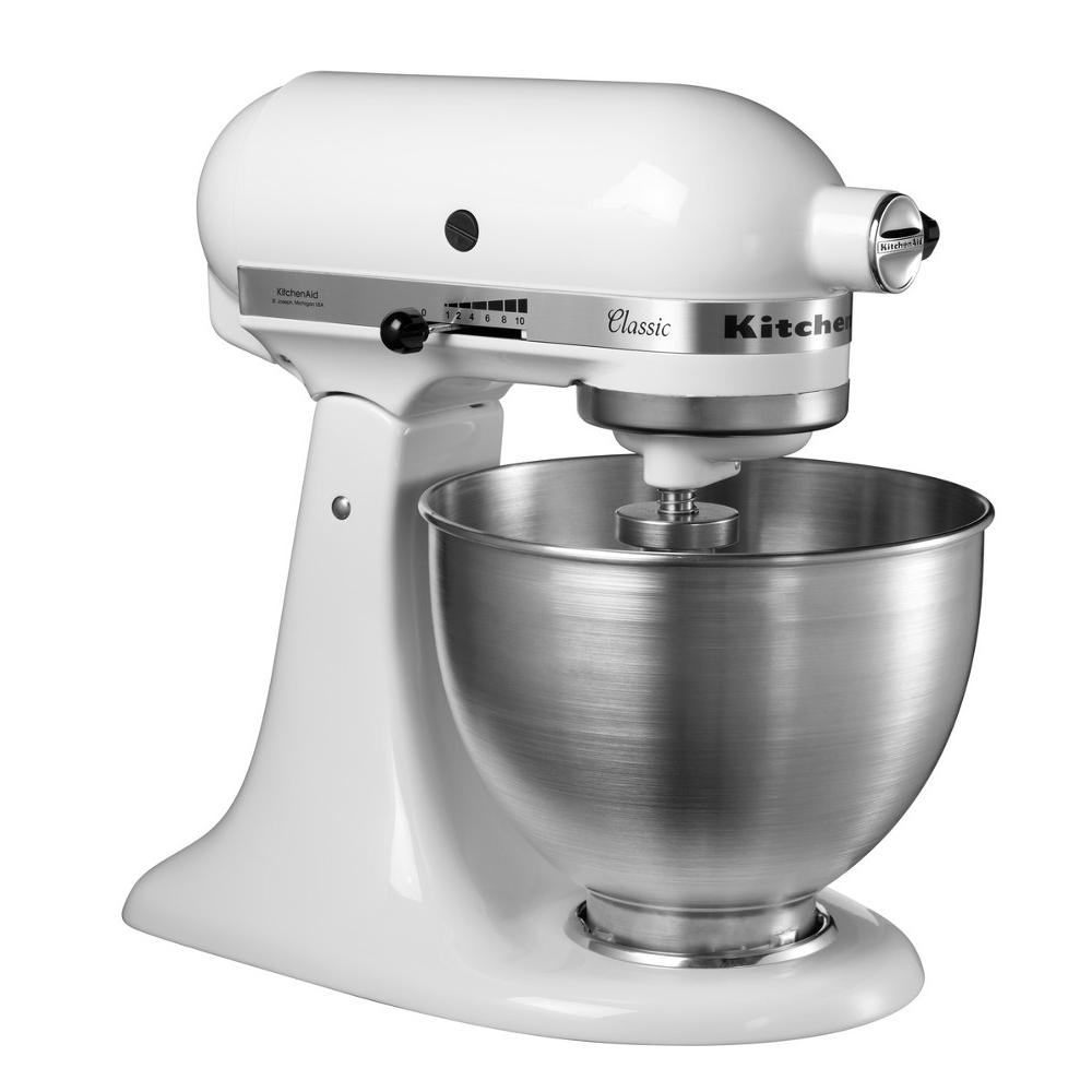 Buy Kitchenaid 5k45ssbwh 4 3 Litre Classic Stand Mixer