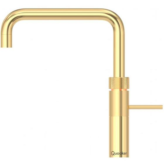 Quooker PRO7 Fusion Square Gold 3 in 1 Boiling Water Tap