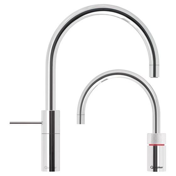 Quooker PRO7 Nordic Round Chrome Boiling Water Twin Tap