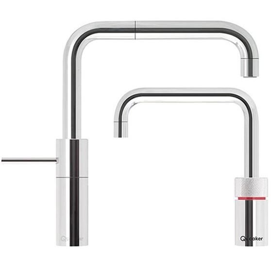 Quooker PRO7 Nordic Square Chrome Boiling Water Twin Tap