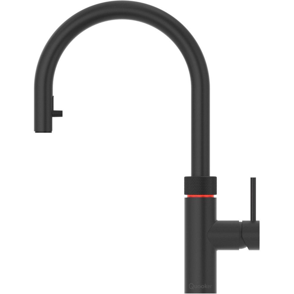 Quooker PRO7 Flex Black 3 in 1 Boiling Water Tap