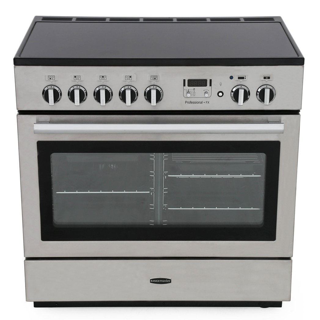 Rangemaster PROP90FXEISS/C Professional Plus FX Stainless Steel with Chrome Trim 90cm Electric Induction Range Cooker