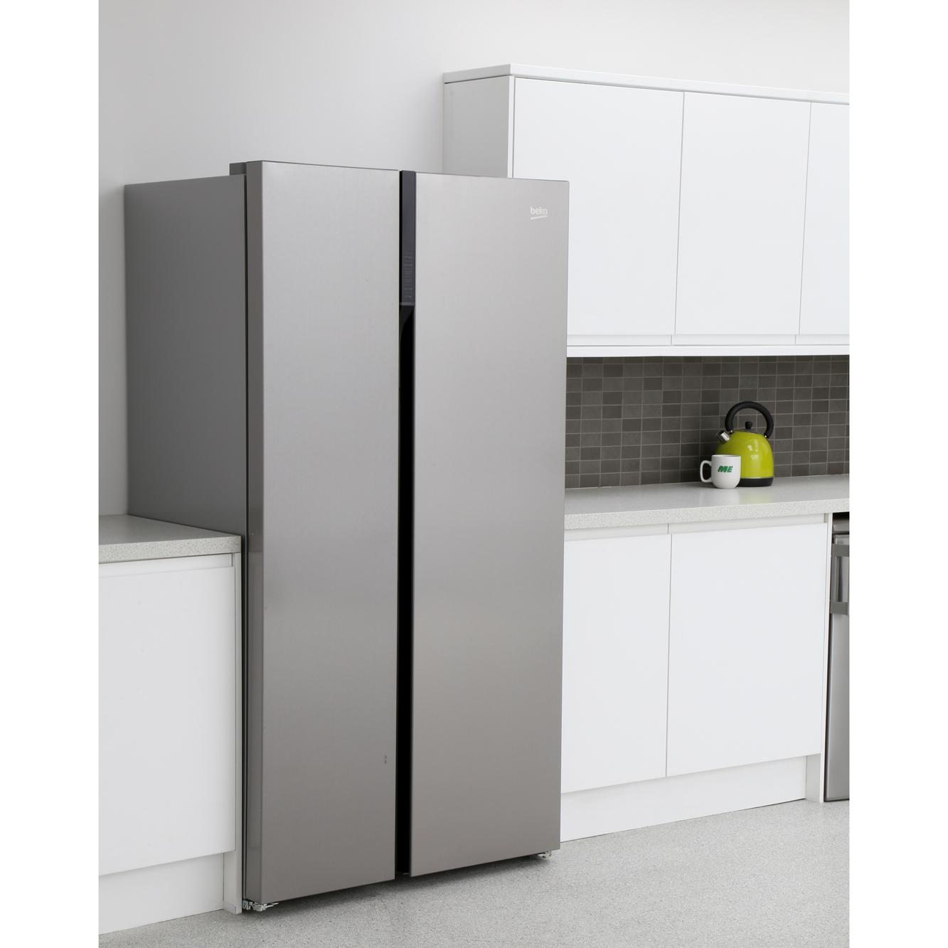 buy beko asgl142x american fridge freezer silver marks. Black Bedroom Furniture Sets. Home Design Ideas