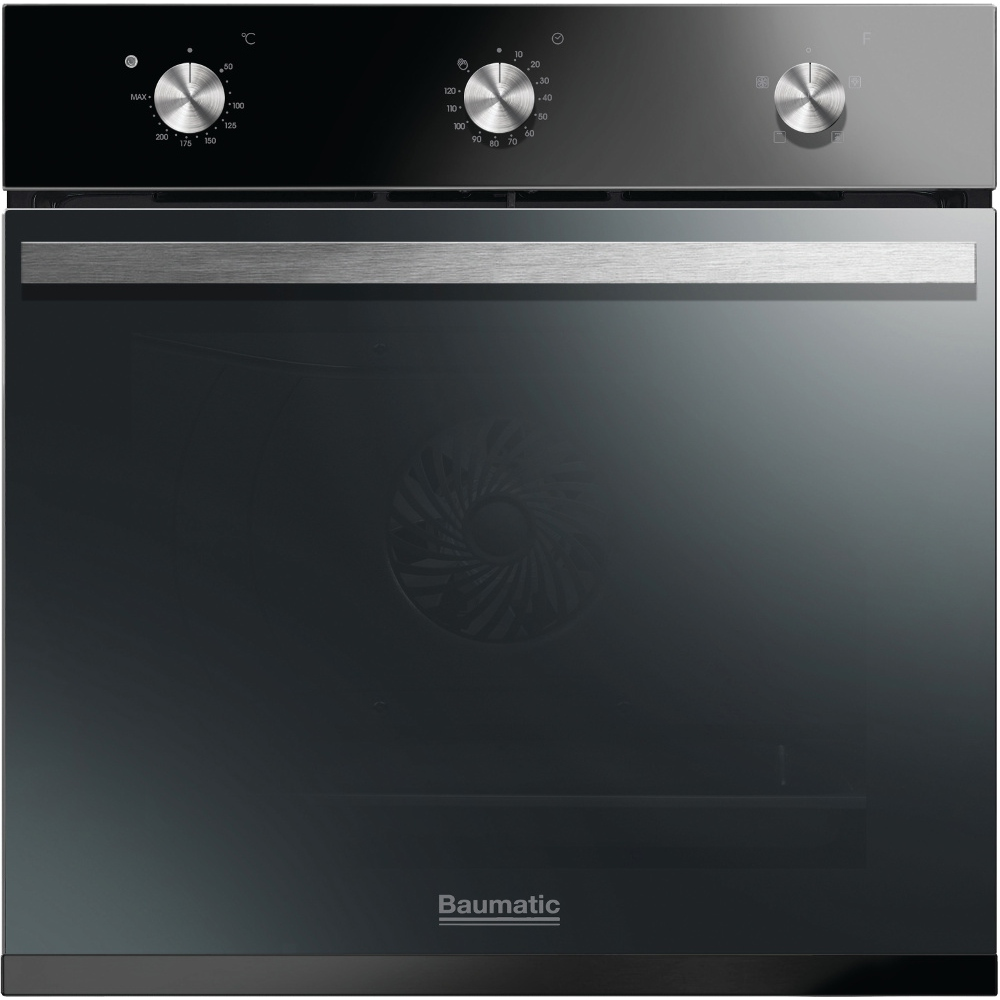buy baumatic vantage bofm604b black single built in electric oven rh markselectrical co uk Oven Baumatic B180s-B baumatic oven owner's manual