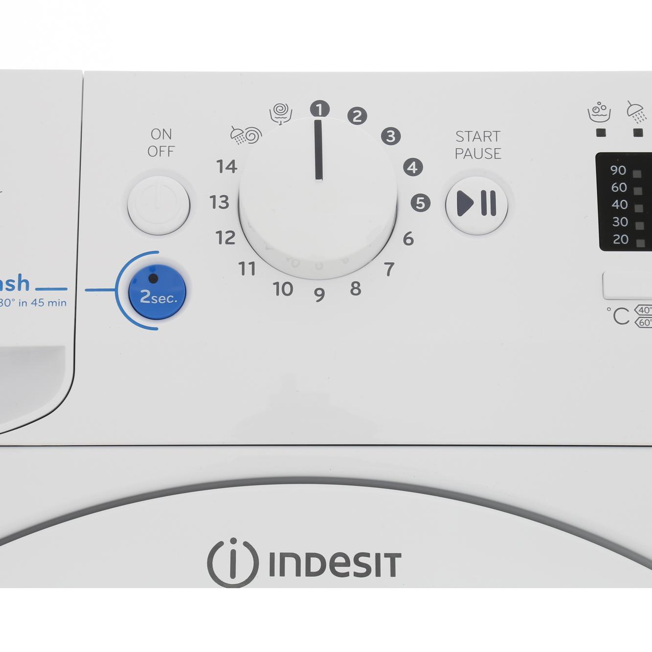 buy indesit bwa81283xwuk washing machine