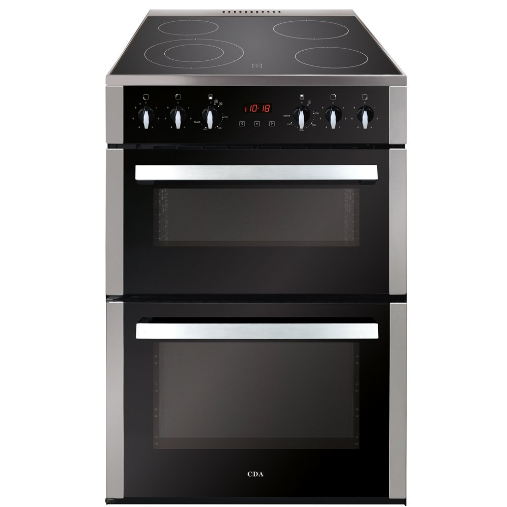 CDA CFC630SS Ceramic Electric Cooker with Double Oven