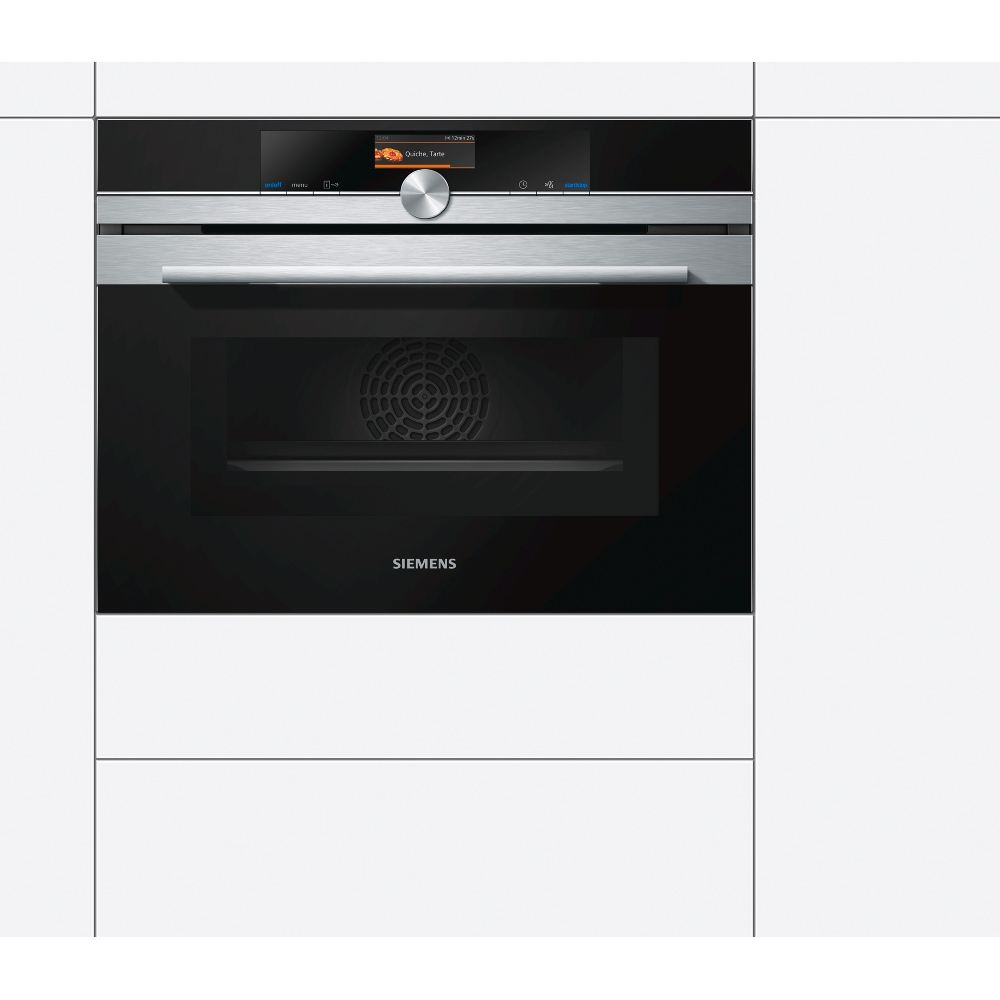 buy siemens iq700 cm676gbs6b compact oven with microwave. Black Bedroom Furniture Sets. Home Design Ideas