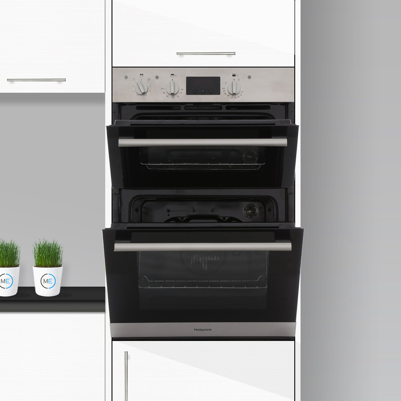 Buy Hotpoint Dd2540wh Double Built In Electric Oven Auto Dh53ws Newstyle Builtin White Dd2540ix