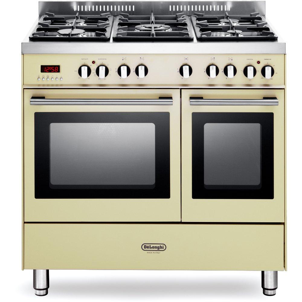 DeLonghi DTR 906-DF/CR 90cm Dual Fuel Range Cooker