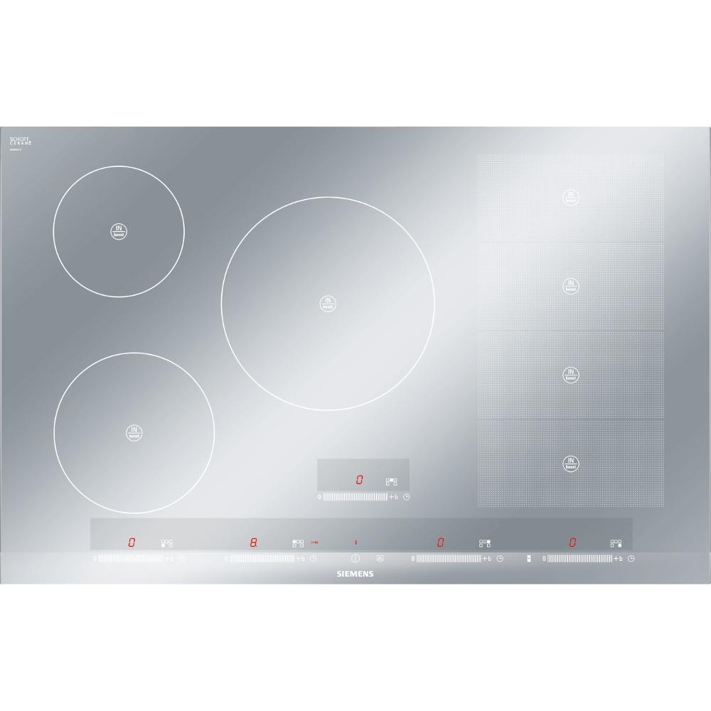 buy siemens eh879sp17e induction hob metal look glass. Black Bedroom Furniture Sets. Home Design Ideas