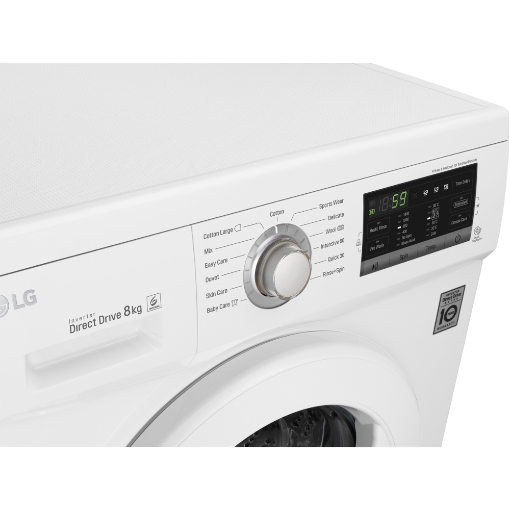 buy lg fh4g7tdn0 washing machine white marks electrical. Black Bedroom Furniture Sets. Home Design Ideas