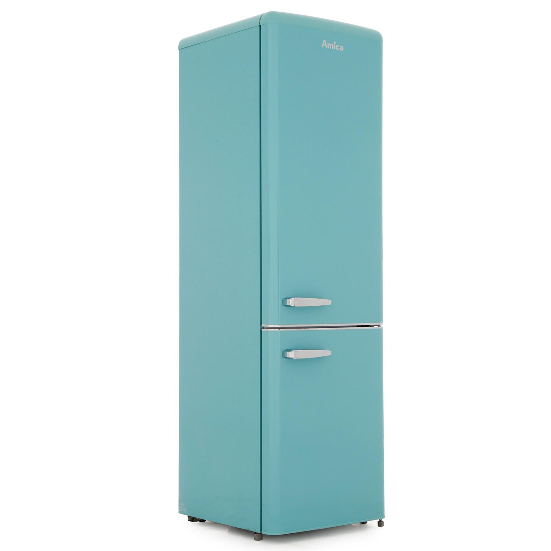 Amica FKR29653DEB Retro Static Fridge Freezer