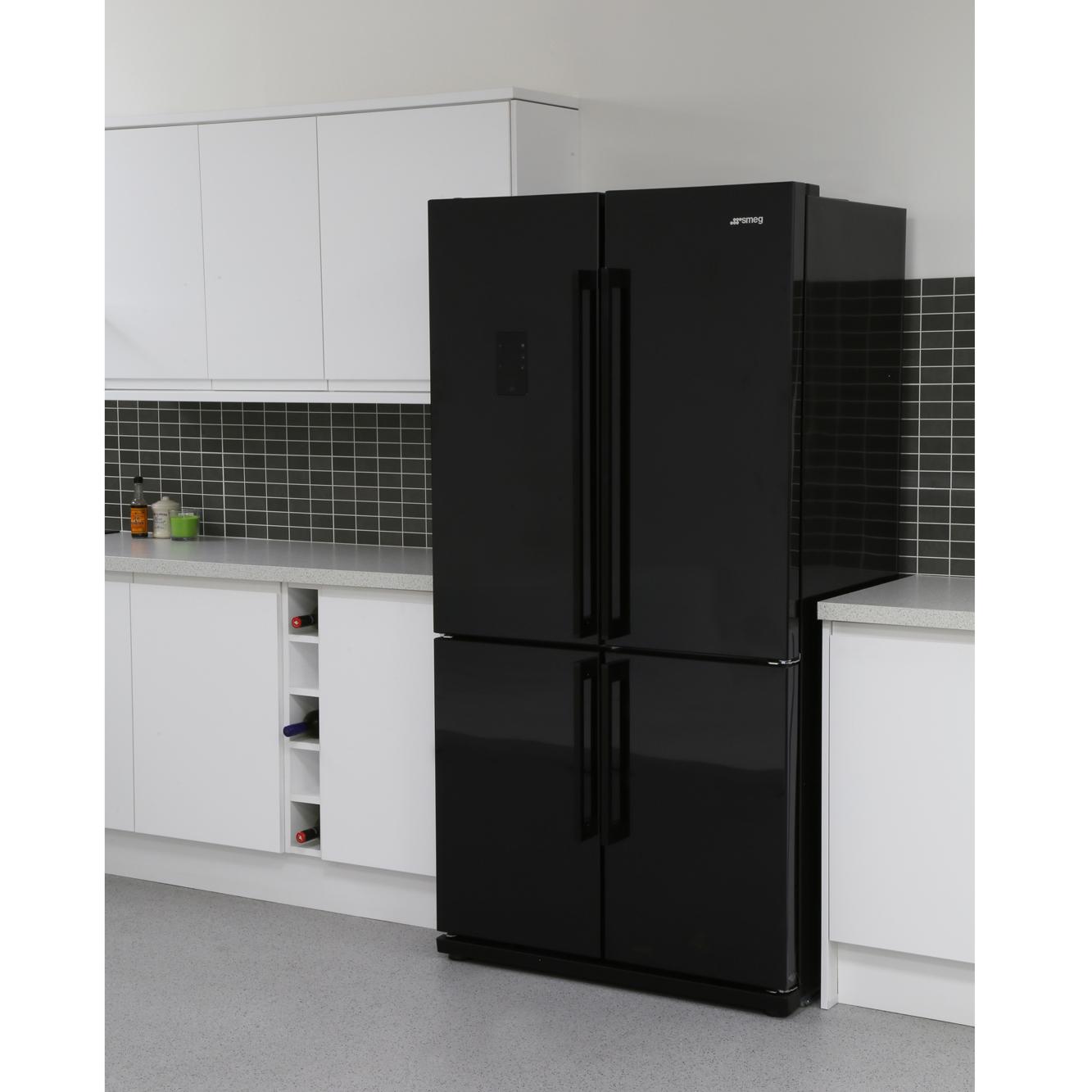 Buy Smeg Fq60npe American Fridge Freezer Black Marks