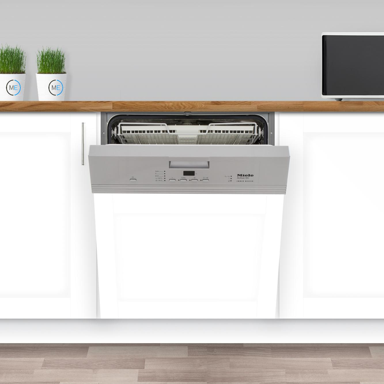 Buy Miele G4203sci Cleansteel Built In Semi Integrated