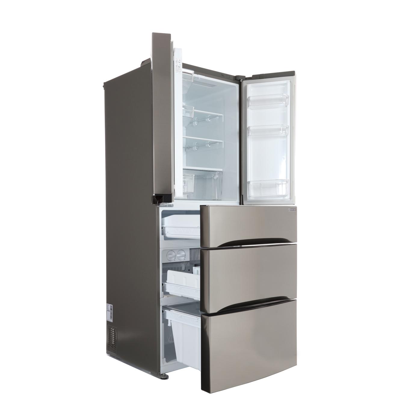 Buy Lg Gb6140pzqv American Fridge Freezer Shiny Steel