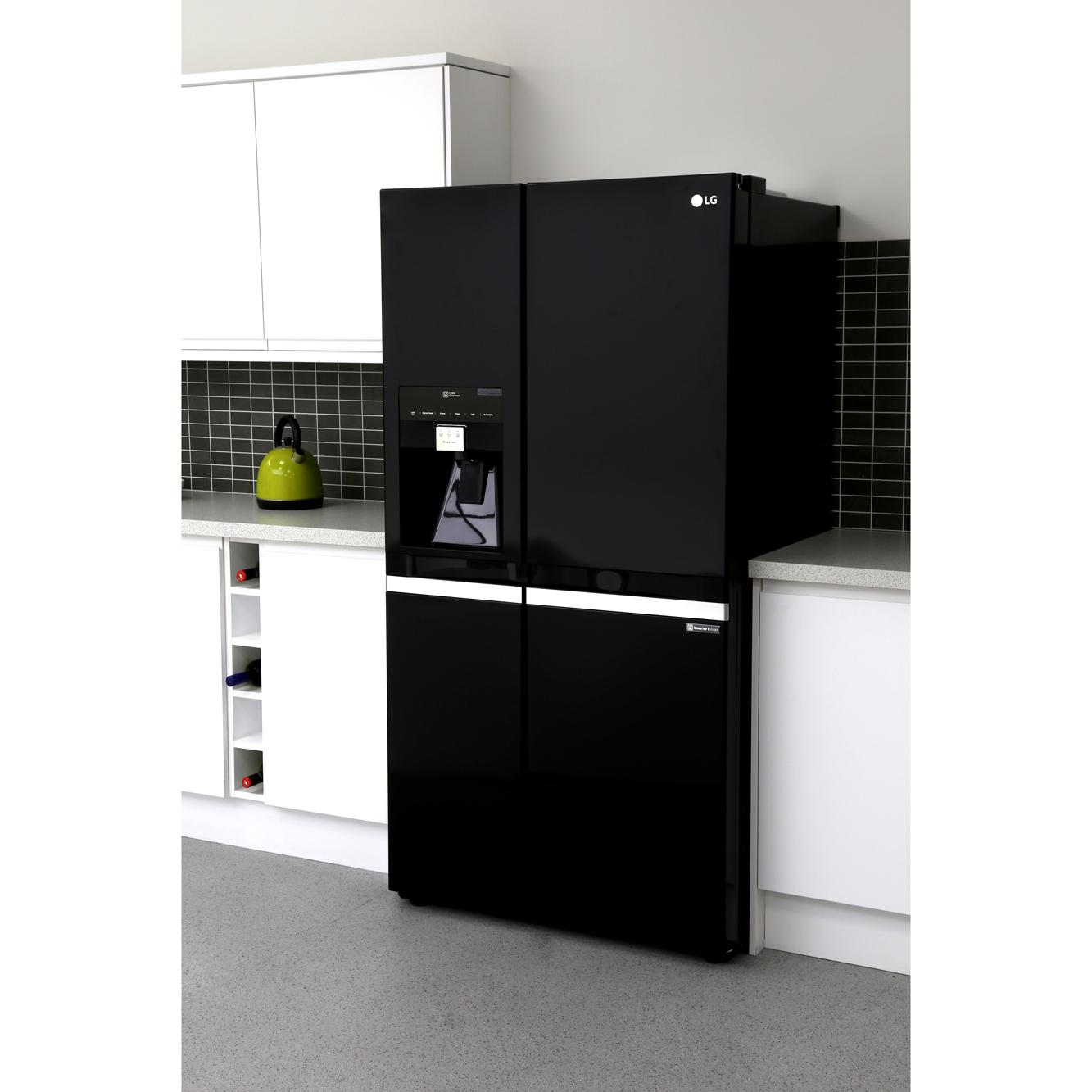 Buy Lg Gsl545wbyv American Fridge Freezer Black Marks
