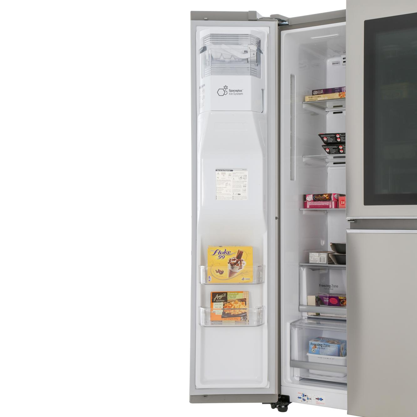 buy lg instaview door in door gsx960nsaz american fridge freezer gsx960nsaz nobel steel. Black Bedroom Furniture Sets. Home Design Ideas