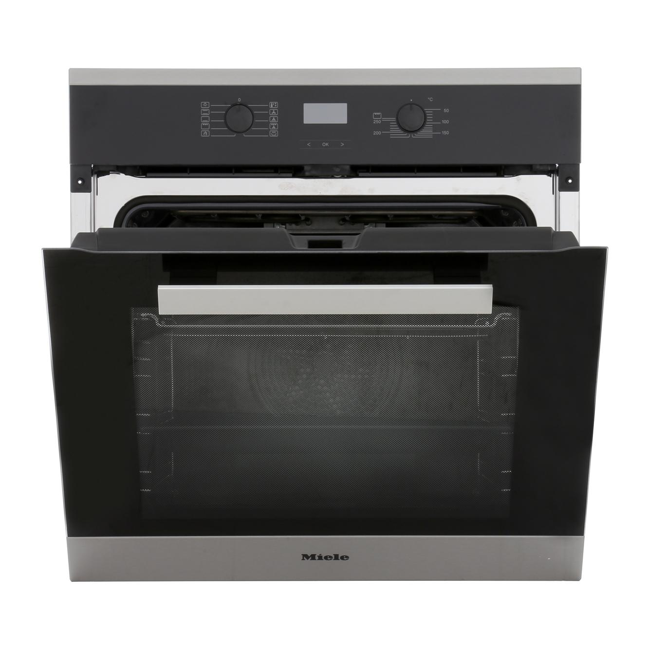 buy miele pureline h2661bp 1 cleansteel single built in electric oven h2661bp 1clst. Black Bedroom Furniture Sets. Home Design Ideas
