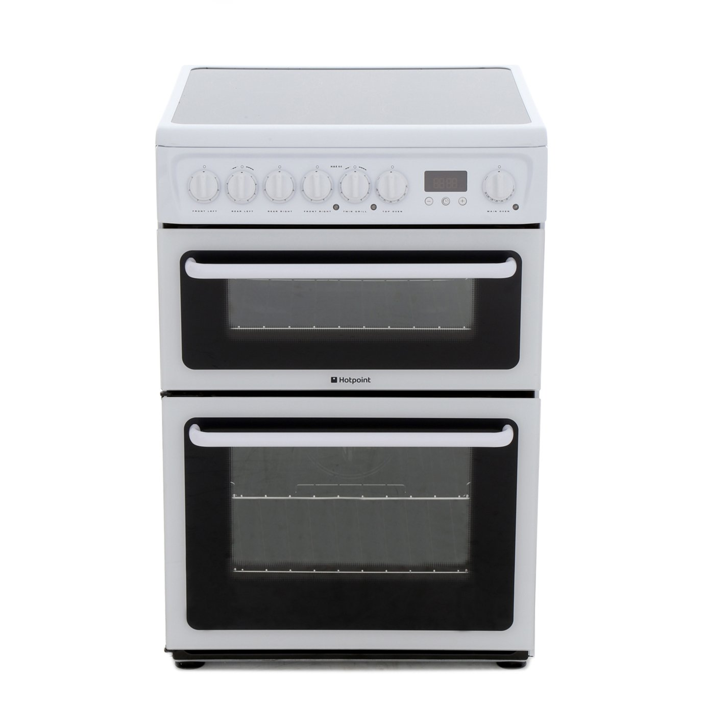 Hotpoint HAE60P Ceramic Electric Cooker with Double Oven