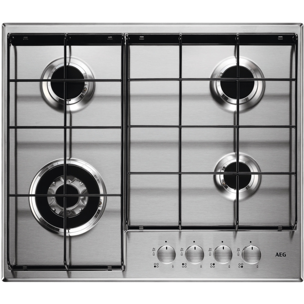 Buy AEG HG644350SM 4 Burner Gas Hob - Stainless Steel | Marks Electrical