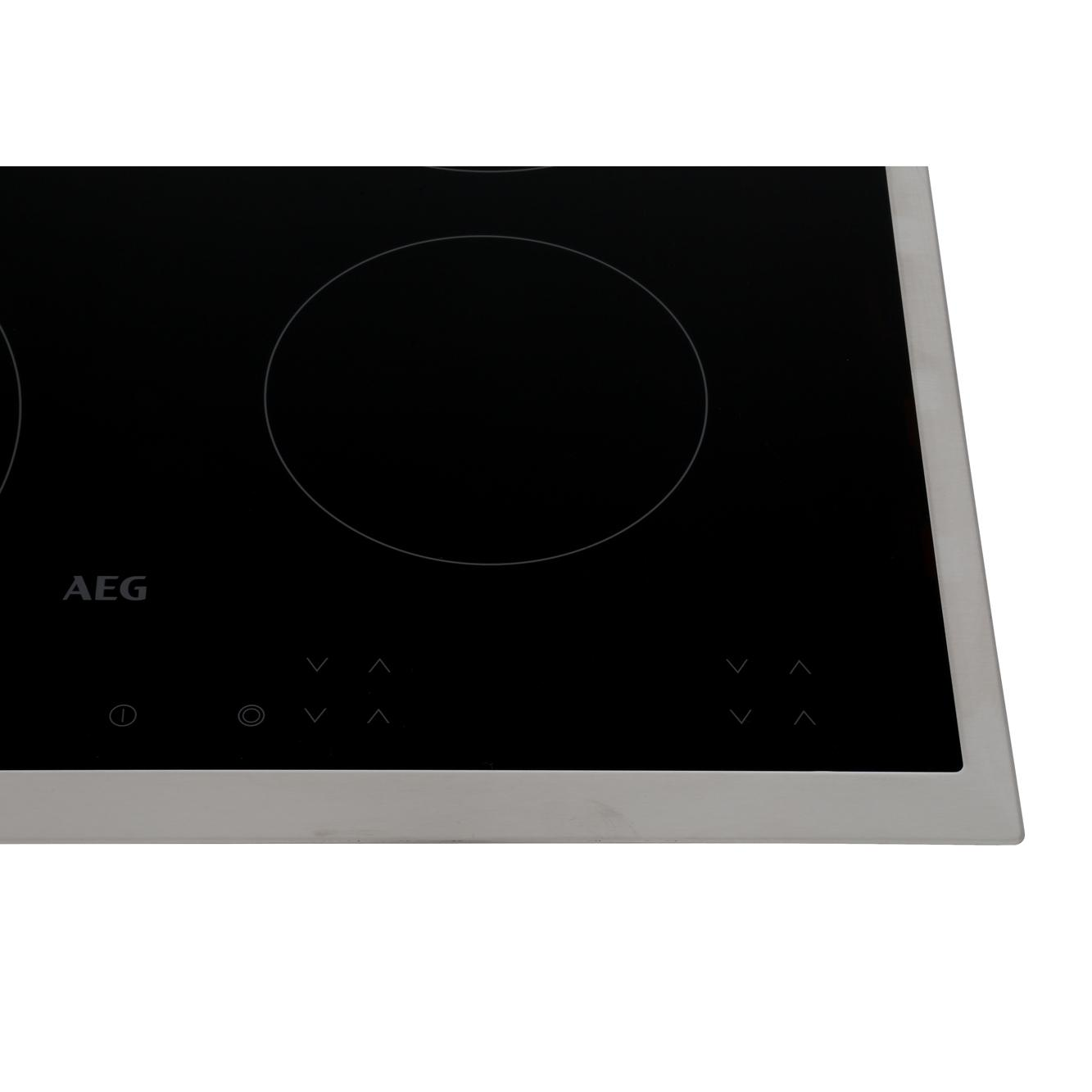 Buy Aeg Hk624010xb Ceramic Hob Stainless Steel Trim