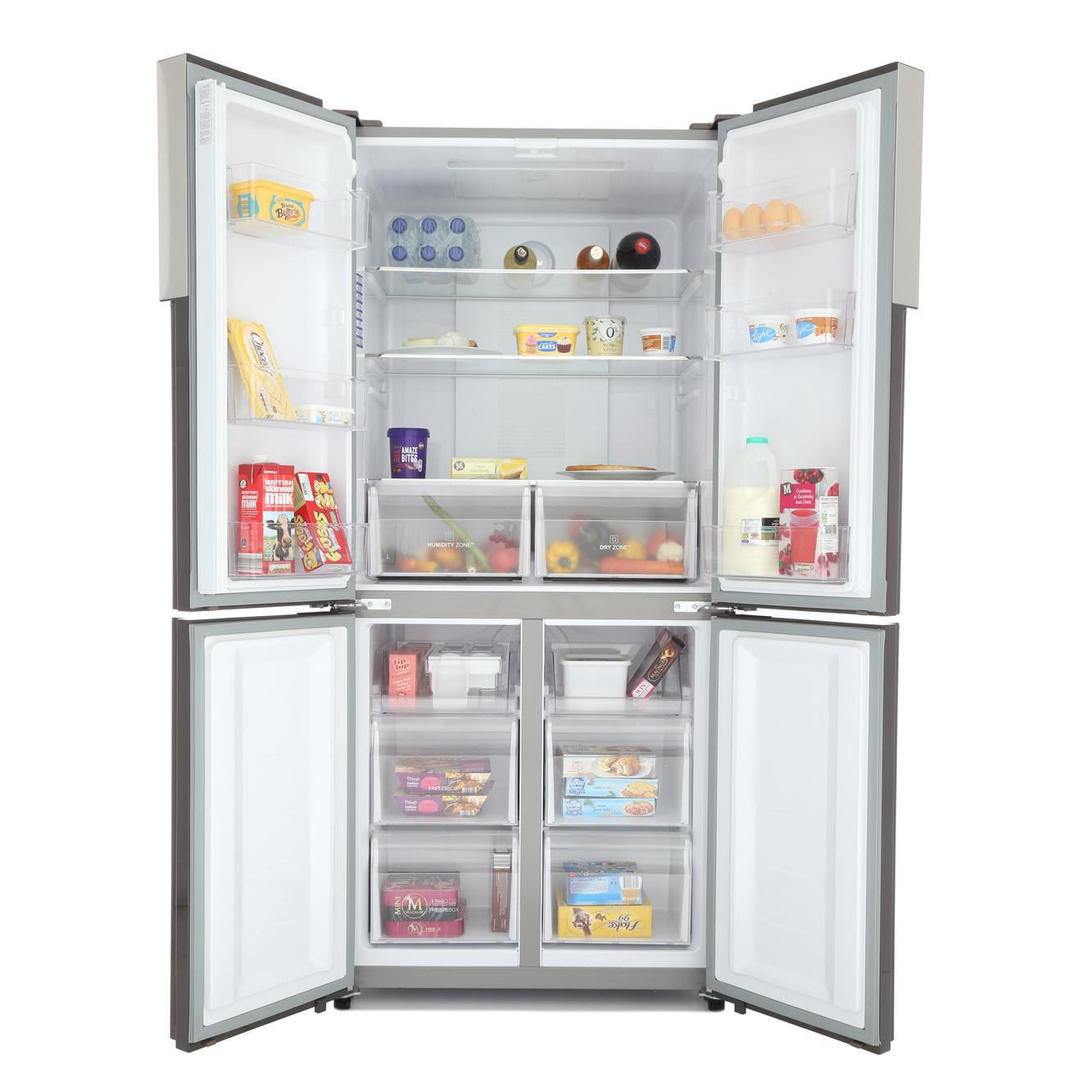 buy haier htf 456dm6 american fridge freezer stainless steel marks electrical. Black Bedroom Furniture Sets. Home Design Ideas