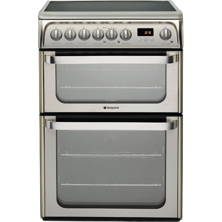 Hotpoint HUE61X Ceramic Electric Cooker with Double Oven