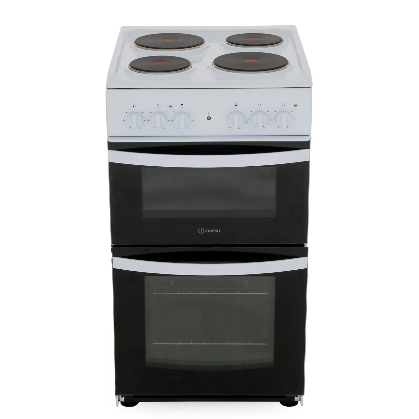 Indesit ID5E92KMW/UK Solid Plate Electric Cooker Separate Grill