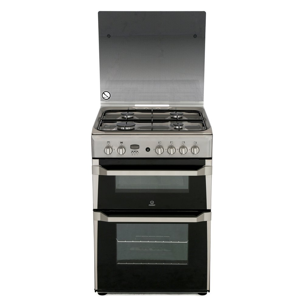 Indesit ID60G2(X) Gas Cooker with Double Oven
