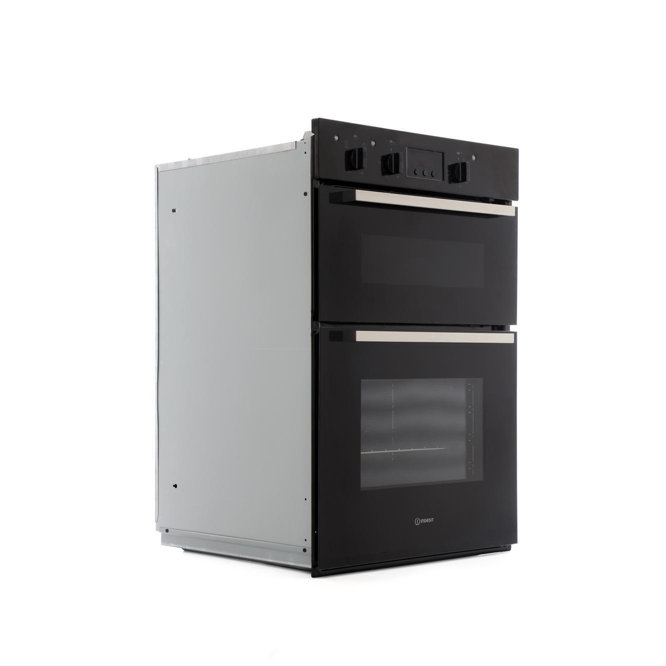 buy indesit idd6340bl double built in electric oven. Black Bedroom Furniture Sets. Home Design Ideas