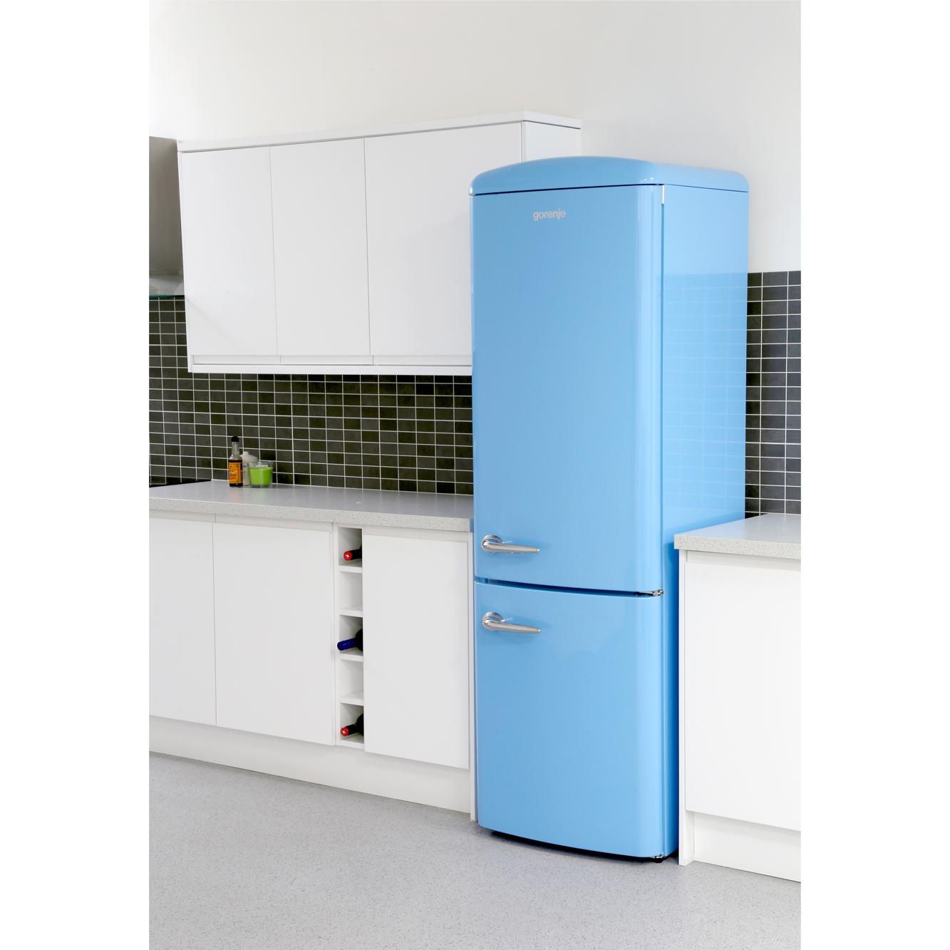 buy gorenje onrk193bl retro frost free fridge freezer baby blue marks electrical. Black Bedroom Furniture Sets. Home Design Ideas