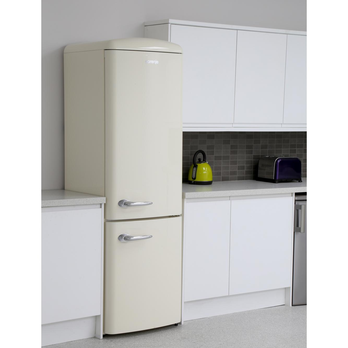 buy gorenje onrk193c retro frost free fridge freezer cream marks electrical. Black Bedroom Furniture Sets. Home Design Ideas