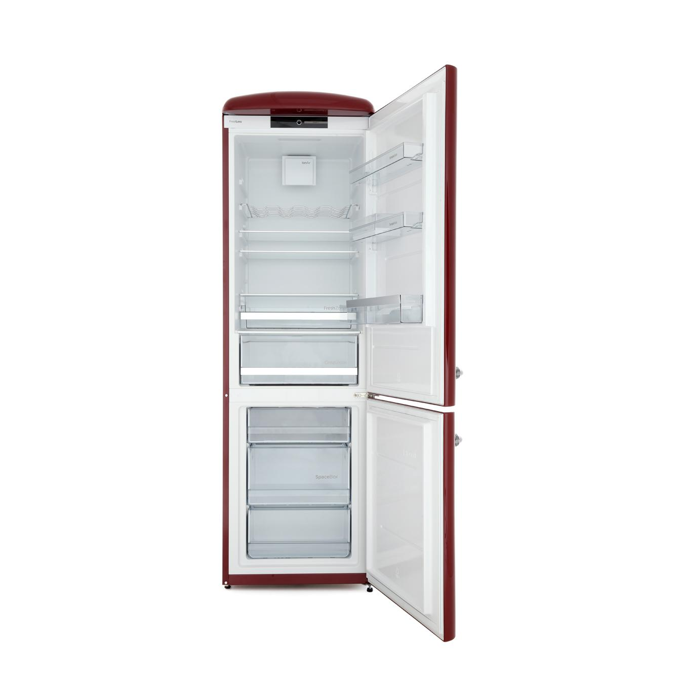 buy gorenje ork193r retro fridge freezer burgundy. Black Bedroom Furniture Sets. Home Design Ideas