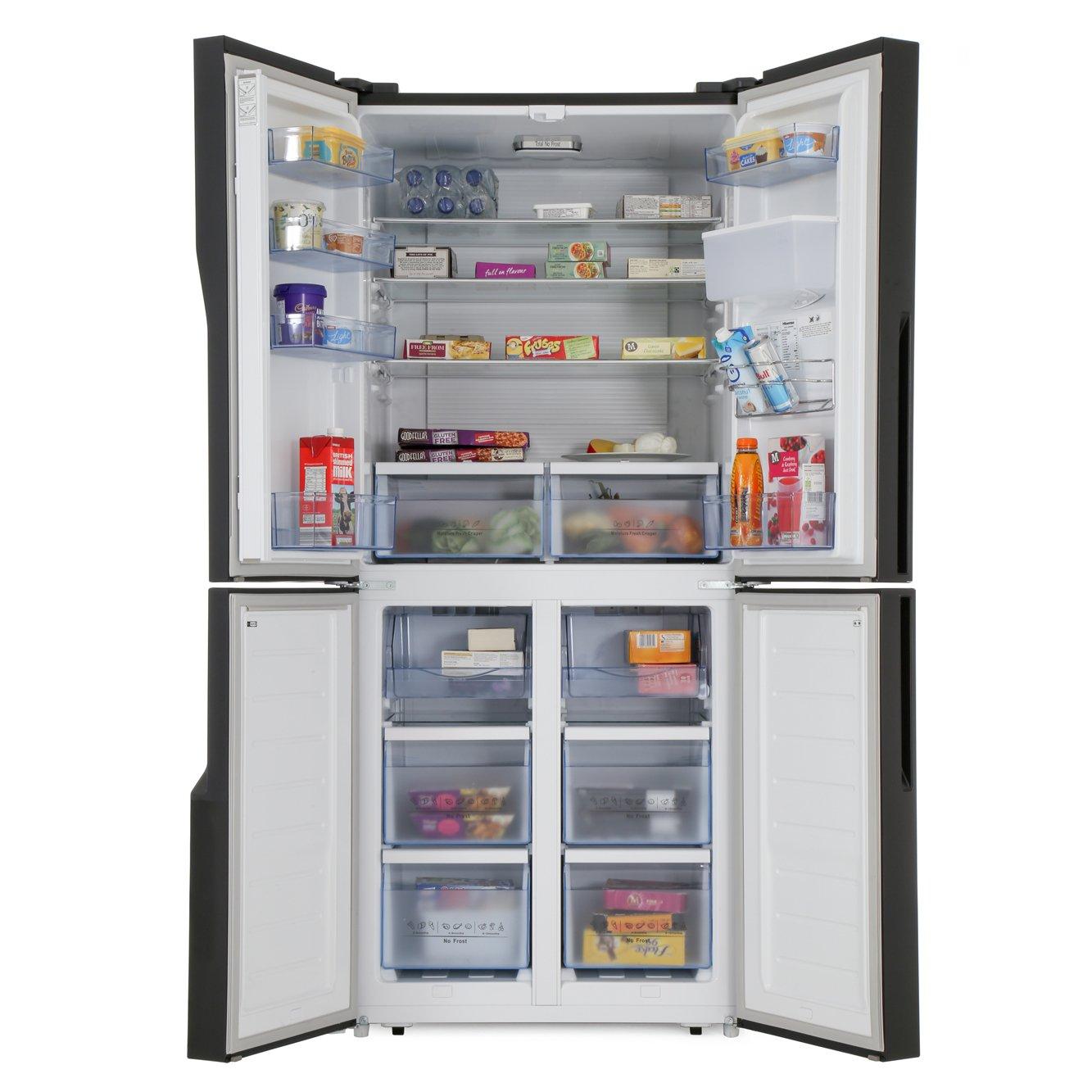 Buy Hisense Rq560n4wb1 American Fridge Freezer Black
