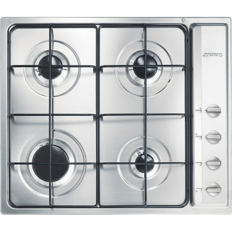 Buy Smeg Cucina S64S 4 Burner Gas Hob (S64S) - Stainless Steel ...