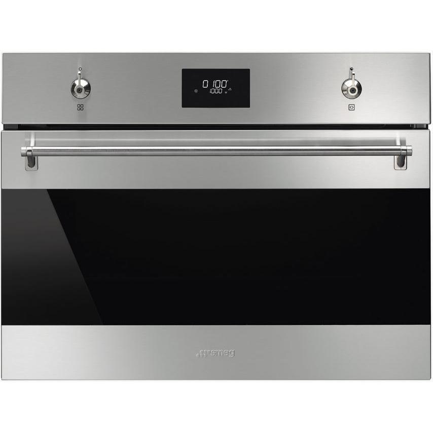 Smeg Classic SF4301MCX Stainless Steel and Eclipse Glass Built In Combination Microwave
